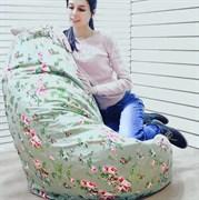 Кресло Груша XL BeanBag Пионы