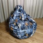 Кресло Груша XL BeanBag Велюр Джинс